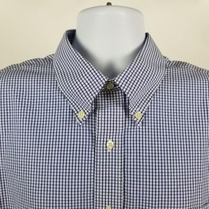 Brooks Brothers Non Iron Blue Check 17.5-35